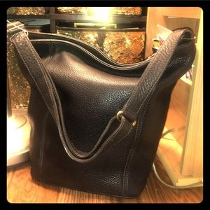 Vtg Coach Legacy Hobo Tote Pebbled brown-leather.
